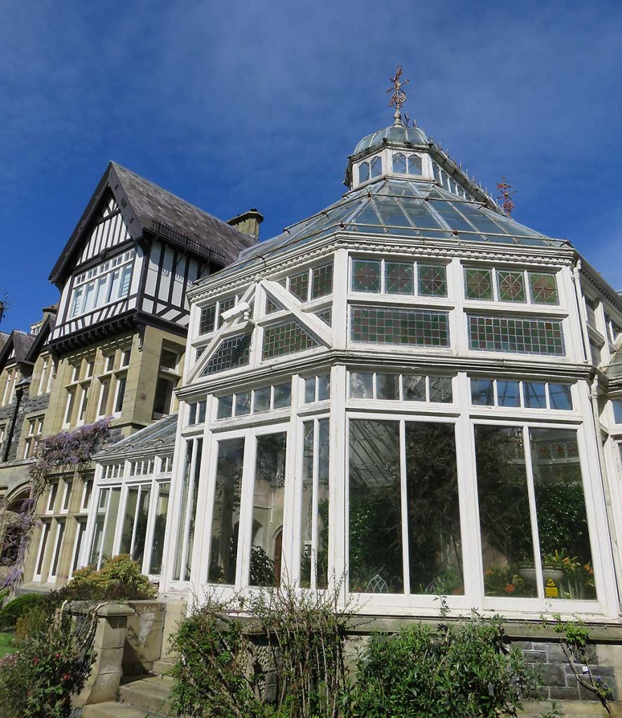 The house at Bodnant Gardens