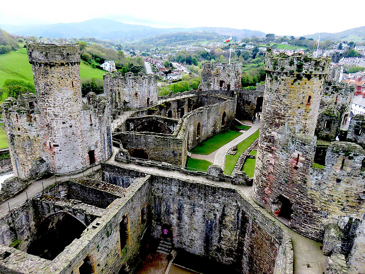 View from one of the towers at Conwy Castle