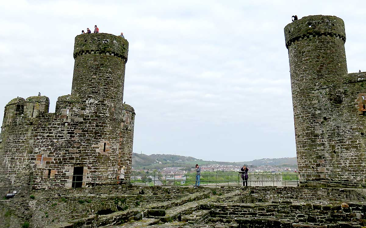 Two of the towers at Conwy Castle