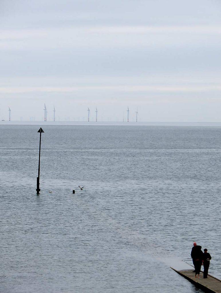 Wind turbines viewed from Llandudno Pier