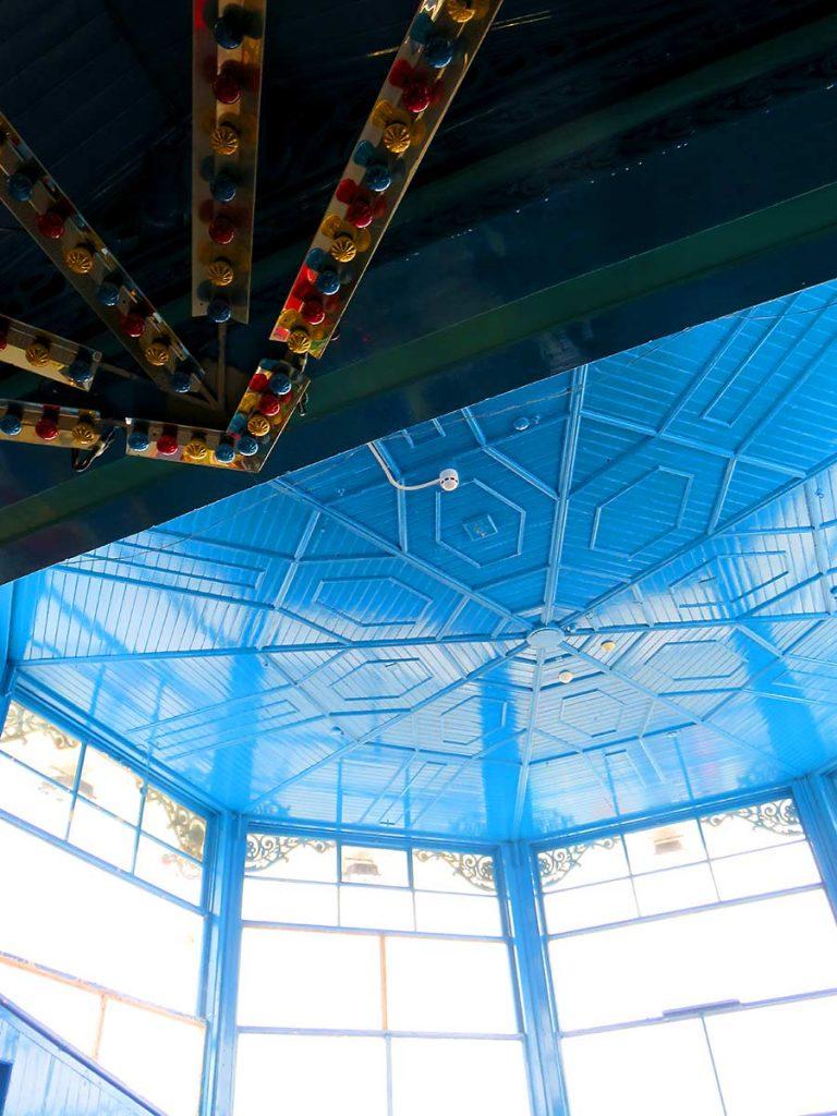 Detail inside the arcade at Llandudno Pier