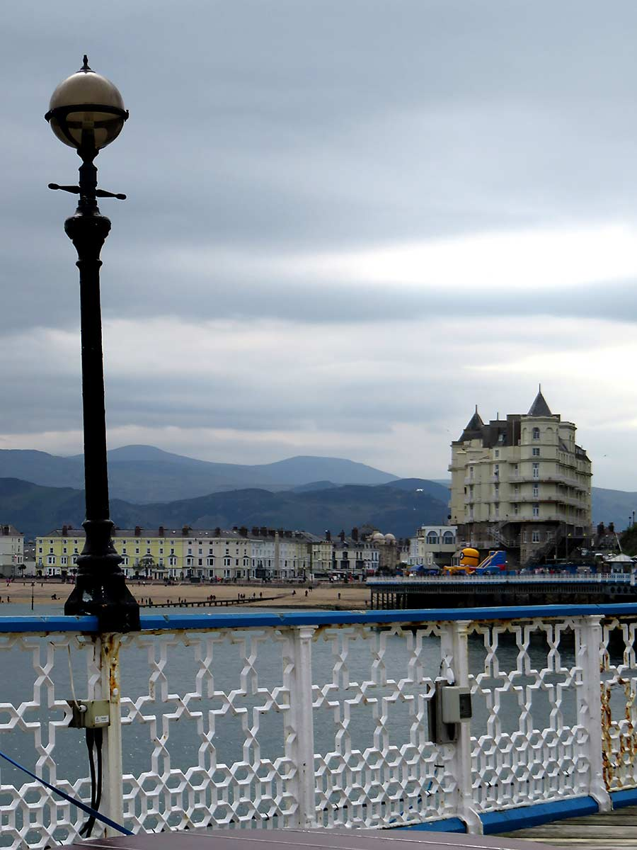Look back to the mountains from Llandudno Pier