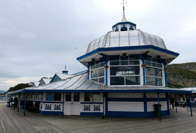 Arcade at the end of Llandundno Pier