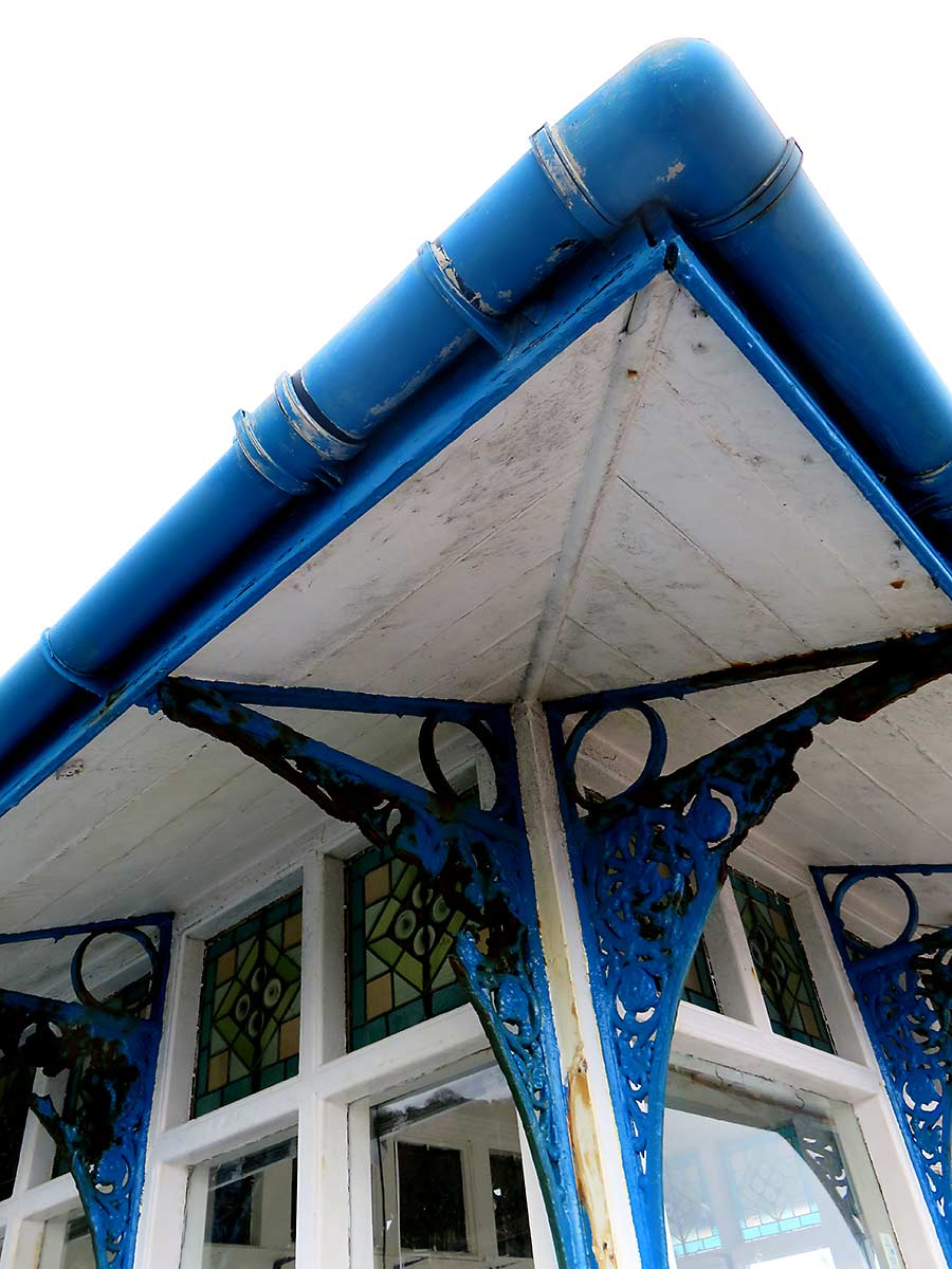 Detail of hut on Llandudno Pier