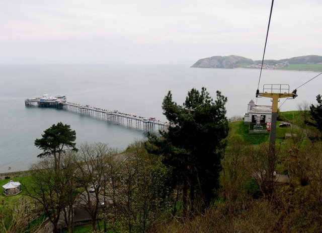 Travelling up the Great Orme Cable Car