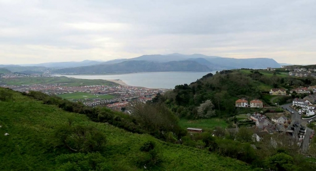 View of Snowdonia from the Great Orme Cable Car