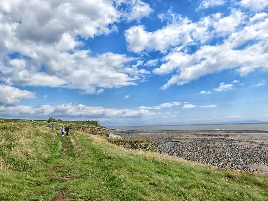 View of the beach looking towards Llantwit Beach