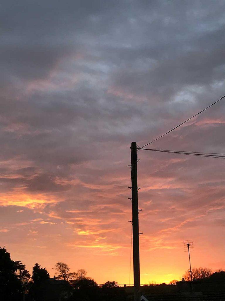 October sunset over Llantwit Major, 2017