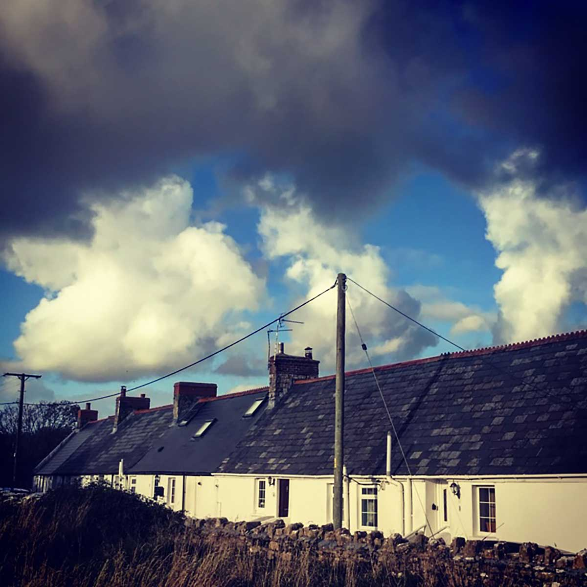 October clouds over Llantwit Major, 2017