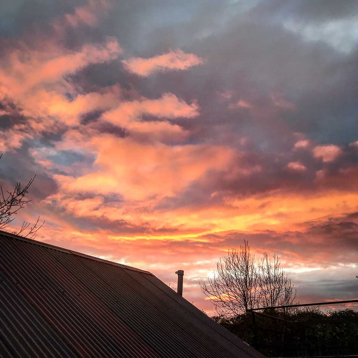 Sunrise over Llantwit Major, November 2017