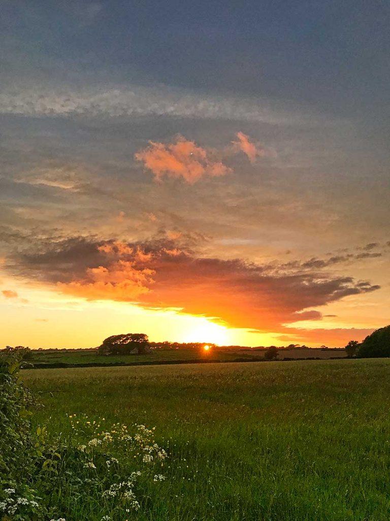 Dramatic sunset close to St Donats, May 2017