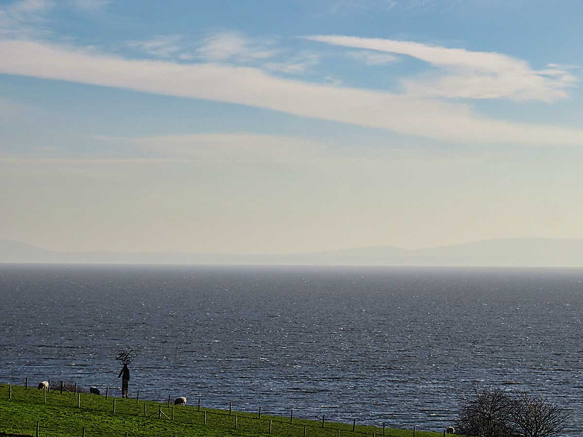 View across to North Somerset from St Donats Castle