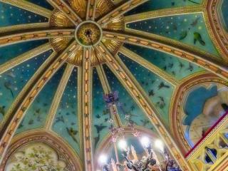 Lavish interior ceiling at Castell Coch