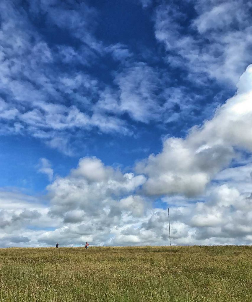 Fluffy skies above the Cowbridge Downs, June 2017