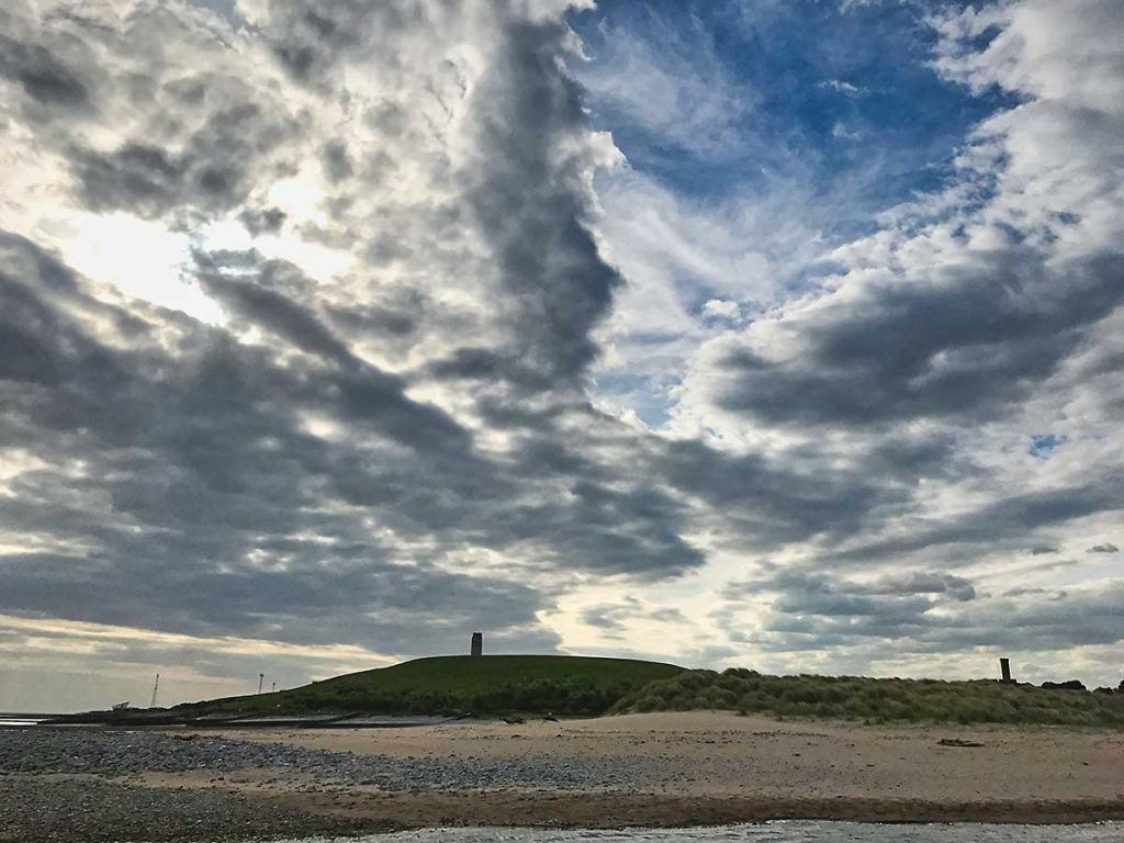 Dramatic summer skies over East Aberthaw, June 2017