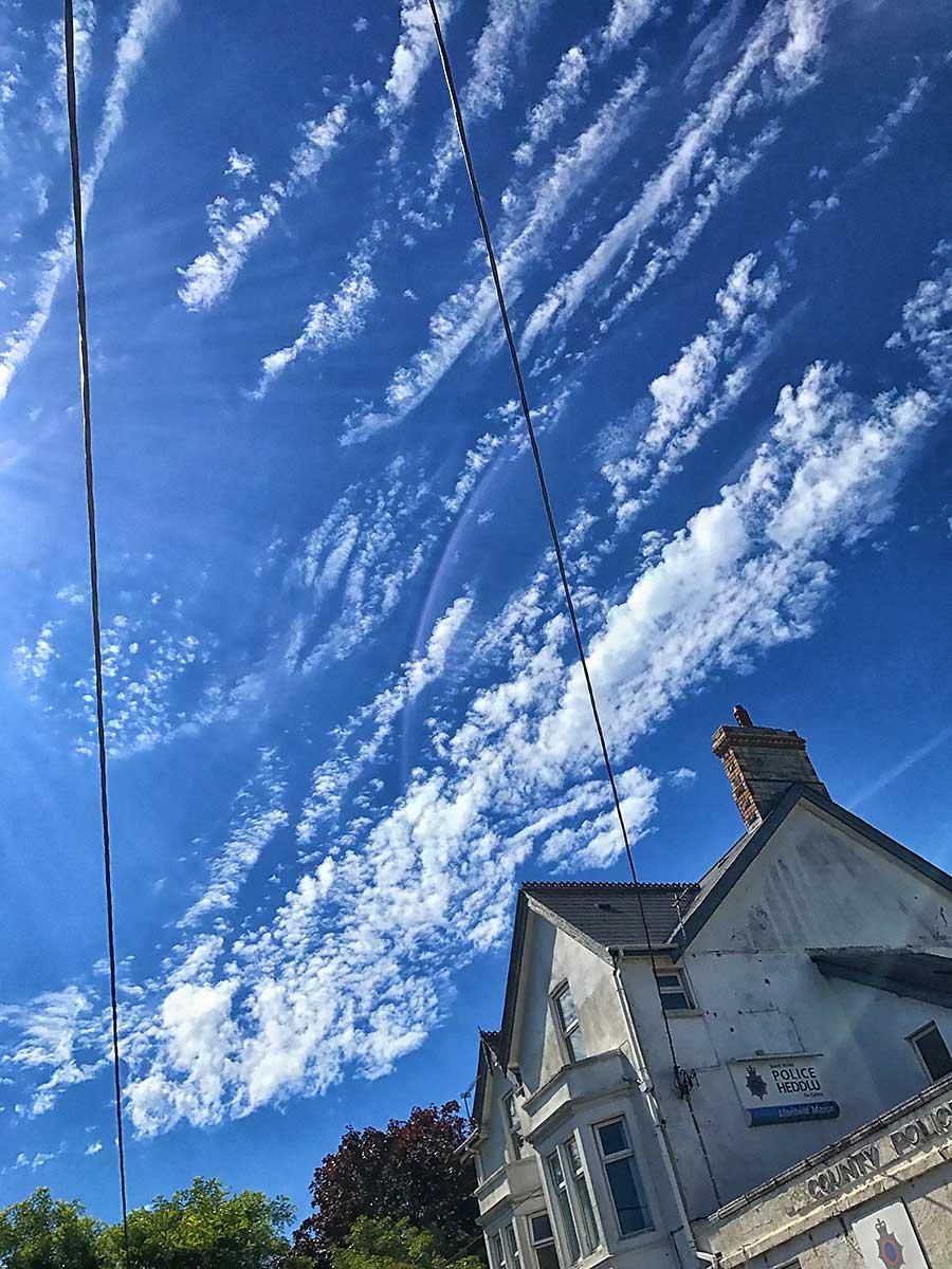 July clouds over Llantwit Major's Police Station, July 2017