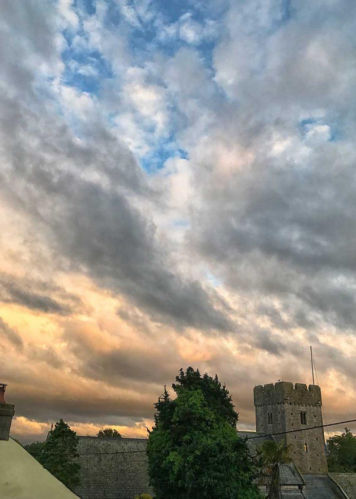 Clouds over St Illtyds Llantwit Major, June 2017
