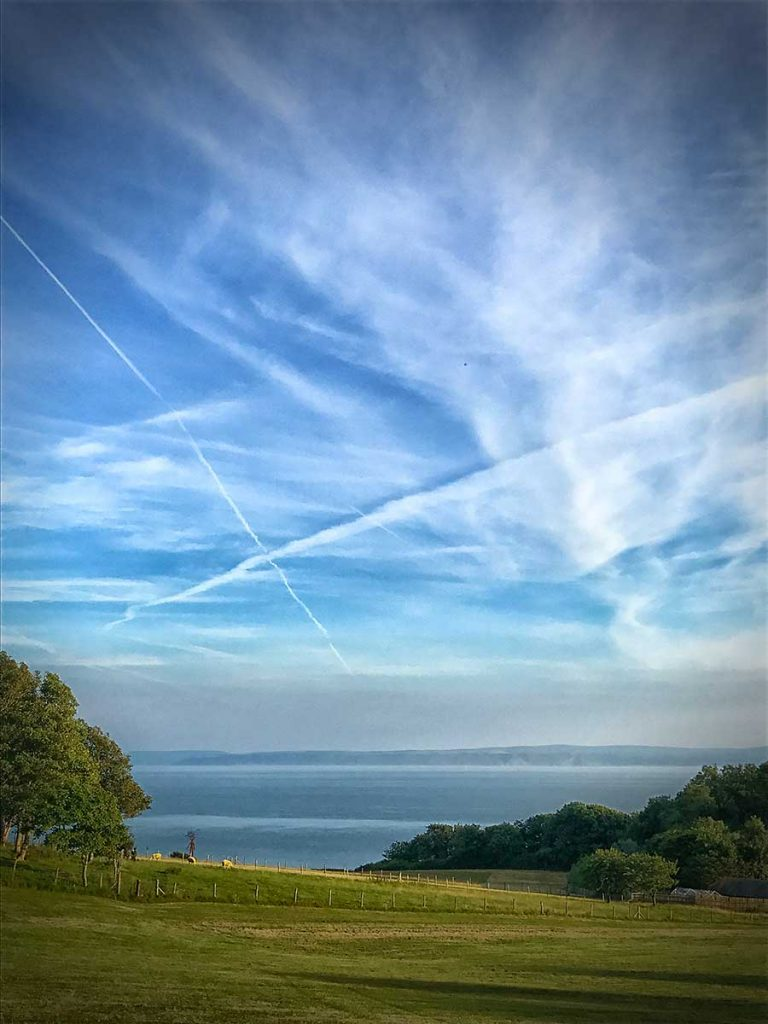 X marks the spot over the Bristol Channel, July 2017