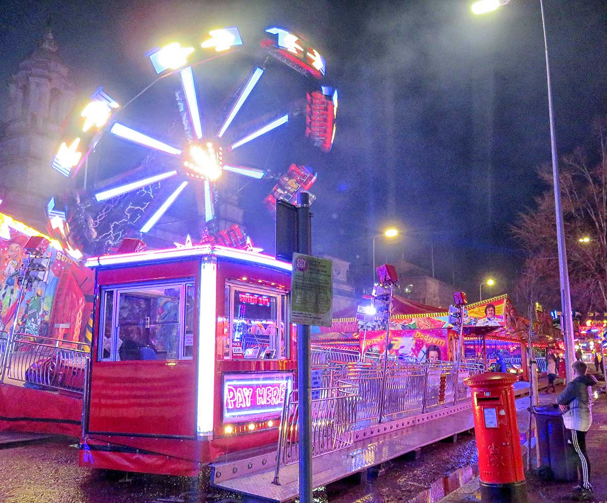 Ride in full swing at the New Years Eve Fair