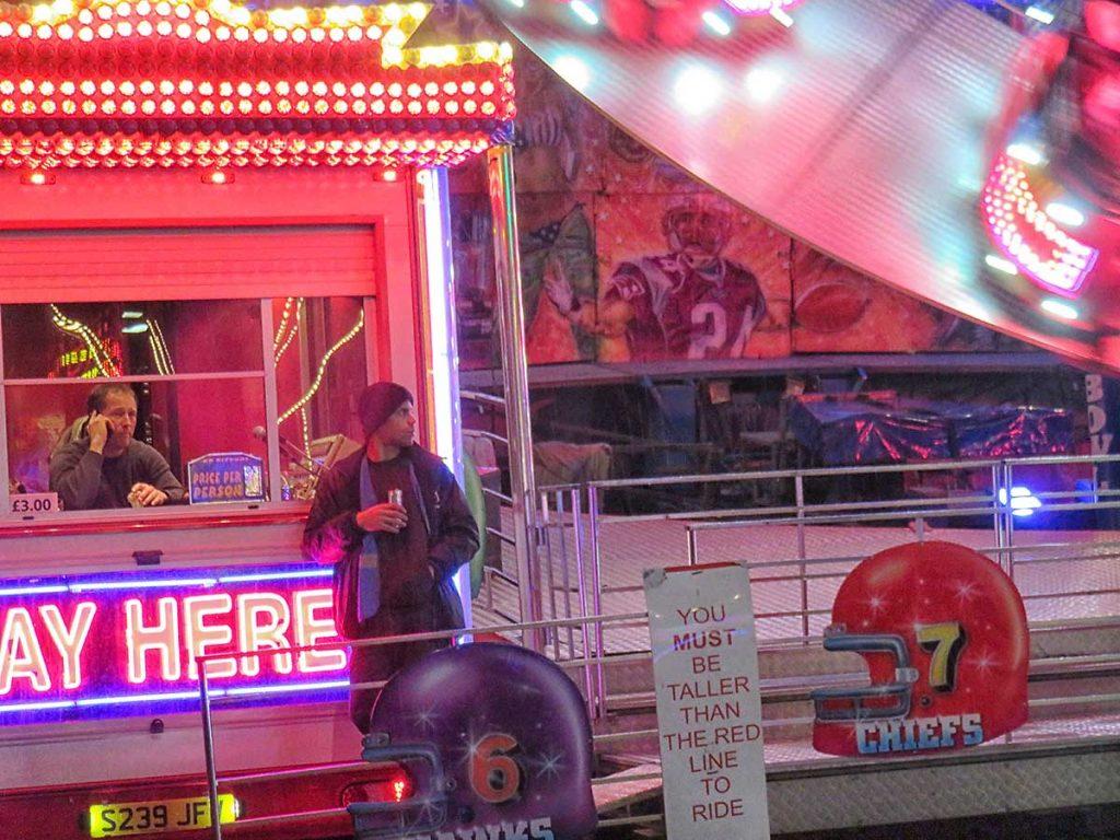 Superbowl ride attendants