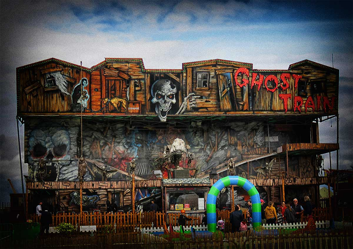 The Ghost Train at Cardiff Bay Beach