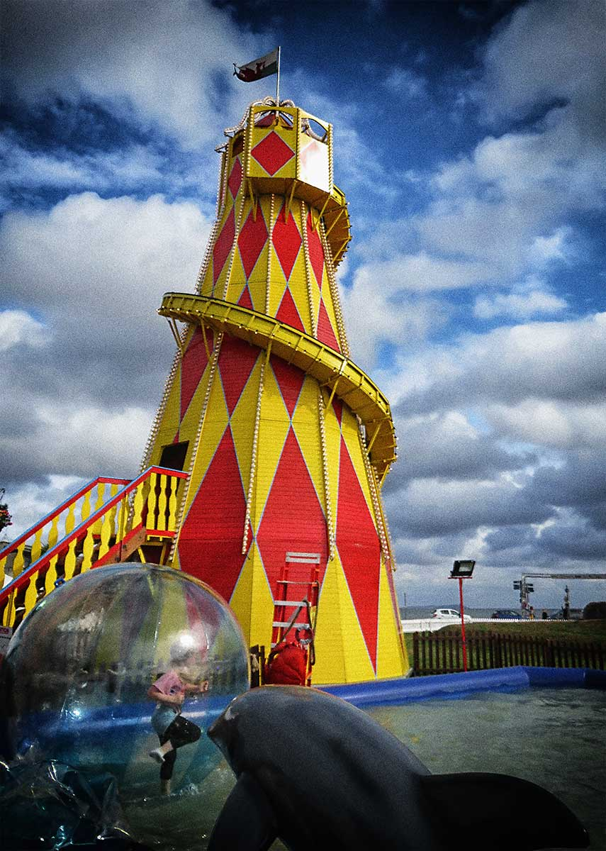 Helter Skelter and Walk On Water at Cardiff Bay Beach