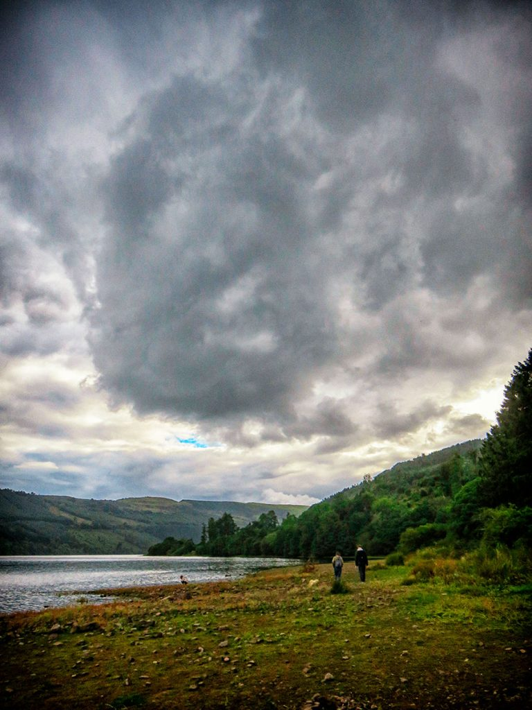 Clouds over the southern end of Talybont Reservoir.