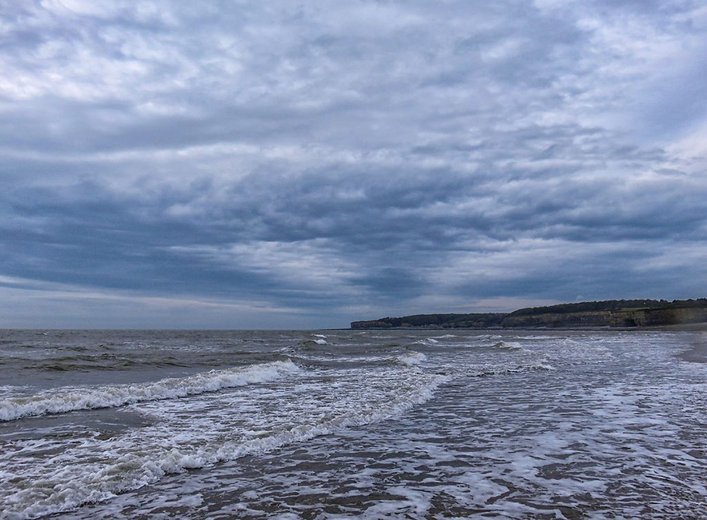 Stormy looking sky over St Donats.