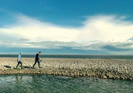 Crabbing At East Aberthaw Beach